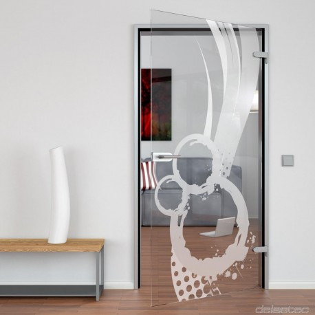 Glass door Abstrakta
