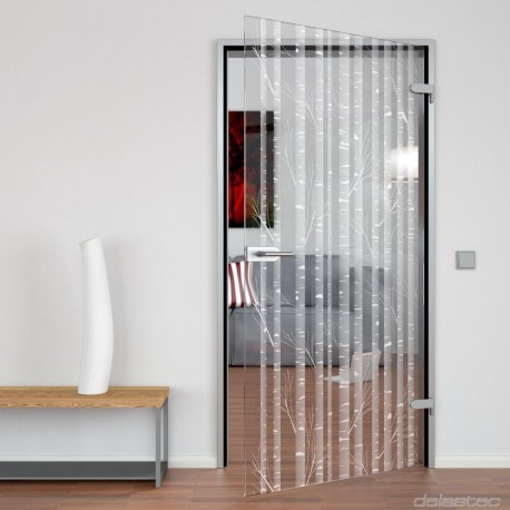 Glass door Bamboo
