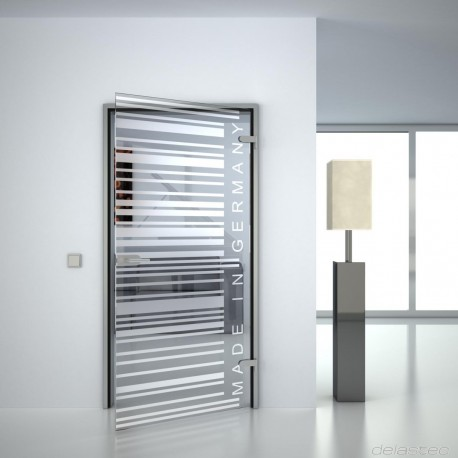 Glass door Barcode