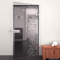 Glass door Techno
