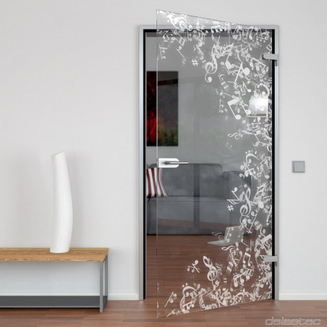 Glass door Musicstorm