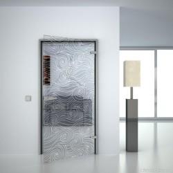 Glass door Wave