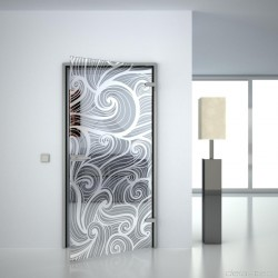 Glass door Wave II