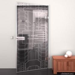 Glass door Metropolis