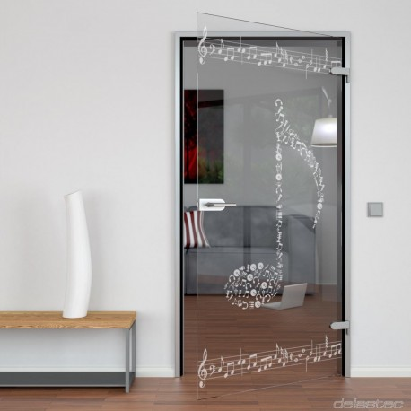 Glass door Note