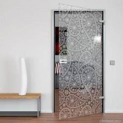 Glass door Paisley