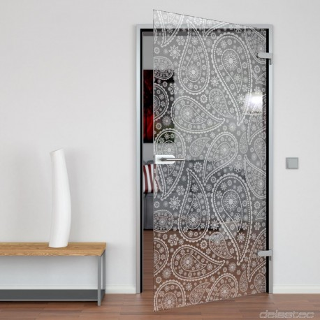 Glass door Paisley