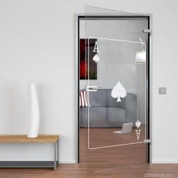 Glass door Pik Ass