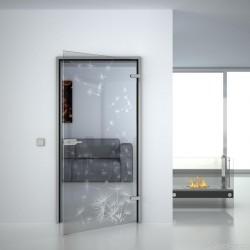 Glass door Dandelion