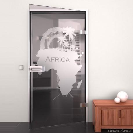 Glastür mit Motiv My Africa