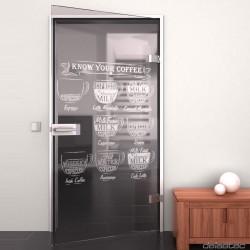 Glass door My coffee