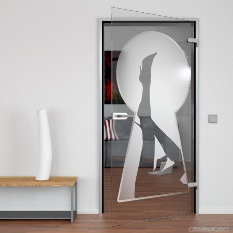 Glass door Keyhole