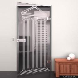 Glass door Temple