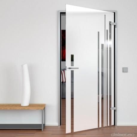Glass door blasted Solus