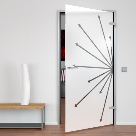 Glass door Direction
