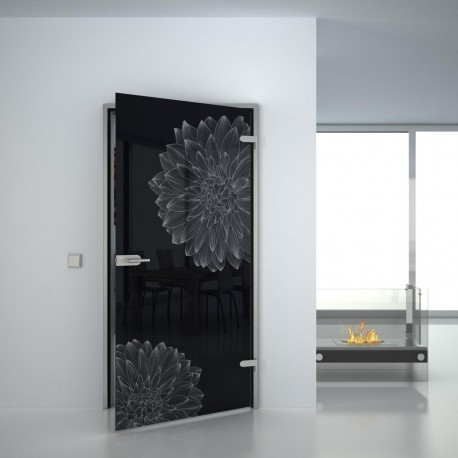 Lacobel Glass door Flowering