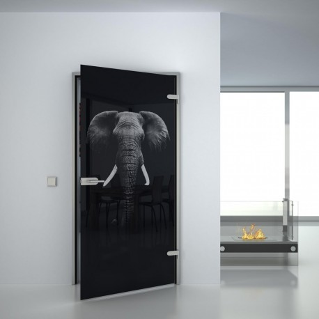 Lacobel Glastür Elefant