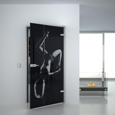 Lacobel Glass door Poledance