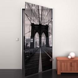 Lacobel-Glass door Brooklyn Bridge