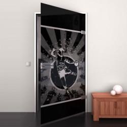 Lacobel-Glass door Handball