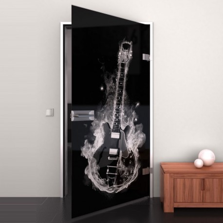 Lacobel-Glass door Hot Guitar
