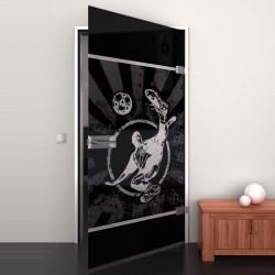 Lacobel-Glass door Kicker