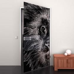 Lacobel-Glass door Lion Head