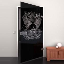 Lacobel-Glass door Lucky Number