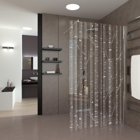 Walk-In Shower Birch Forest