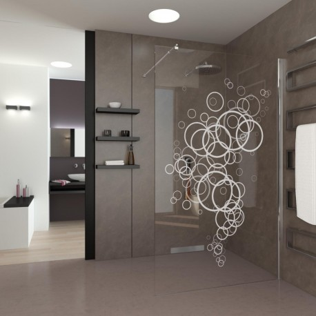 Walk-In Dusche Abstract Bubbles