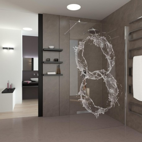 Walk-In Shower Crystal Rings