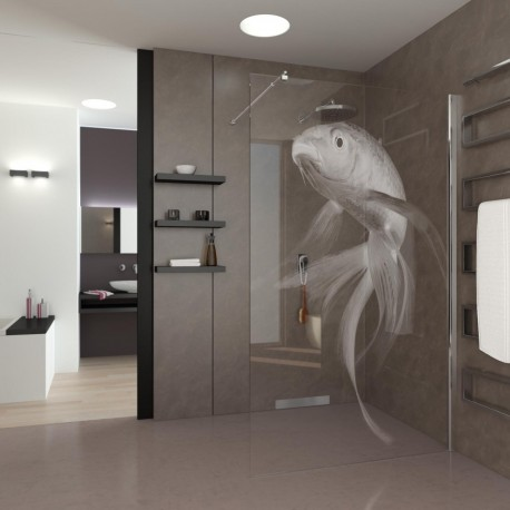 Walk-In Shower Koi