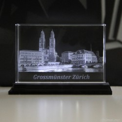 Grossmünster Zürich 90x60x60mm