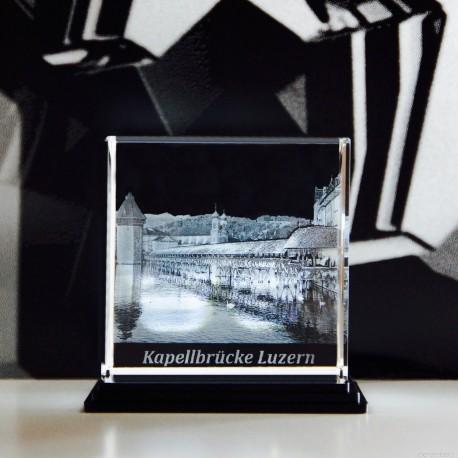 Luzern Kapellbrücke 80x80x80mm